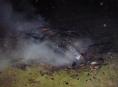 Požár chaty v Dolních Studénkách