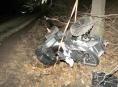 Řidič na čtyřkolce nezvládl smyk a havaroval