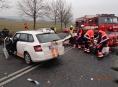 Nehoda tří vozidel uzavřela Bludovský kopec