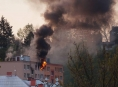 Požár bytu ve Šternberku si vyžádal evakuaci 100 osob