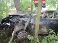 Opilý řidič narazil do stromů