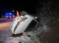 Řidič na Jesenicku ztratil kontrolu nad vozidlem