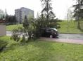 Silný vítr komplikuje situaci na Jesenicku