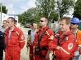 Profesionální hasiči cvičili záchranu osob