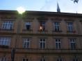 Požár bytu na nábřeží Přemyslovců v Olomouci