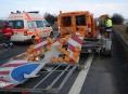 U Prostějova narazil kamion do dodávky