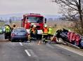 Šest vozidel havarovalo mezi Olomoucí a Šternberkem