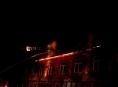 V Šumperku v noci hořel průmyslový areál