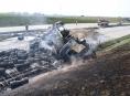 U Bělotína na D1 dvě hodiny hořel kamion