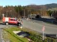 AKTUALIZOVÁNO:Cizinec, převážející tuny kukuřice na Jesenicku, spálil brzdy