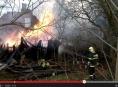 Při požáru rodinného domku v Mikulovicích explodovaly propanbutanové láhve