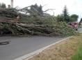 AKTUALIZOVÁNO:Desítky výjezdů hasičů v Olomouckém kraji kvůli počasí