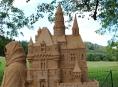 Obří hrad z písku vyrostl na Bludovečku