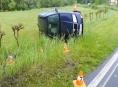 Řidička na Jesenicku se lekla a havarovala