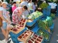 Sužující vedro poznamenalo také Farmářské trhy v Šumperku