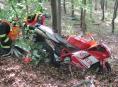 Na Jesenicku se těžce zranil motorkář