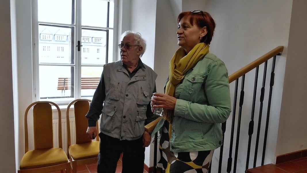 Miroslav Kovář při výstavě v Šumperku foto:V.Krejčí