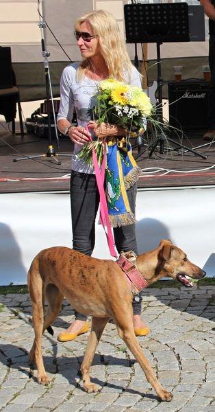 .Marie Gronychová s Bellinkou při zahájení Šumperského Hafana 2012