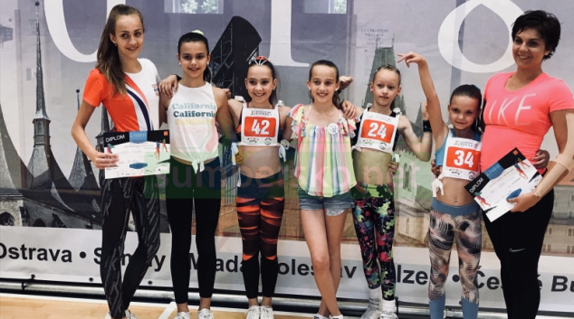 FOTO aerobik: Šumperské závodnice reprezentovaly na  MČR 2018