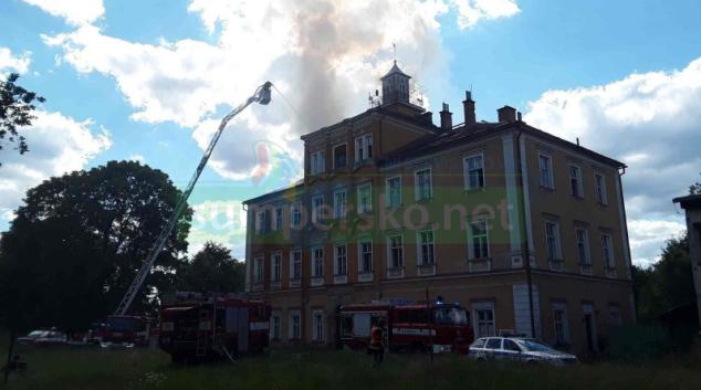 Na Šumpersku hořel bývalý zámeček