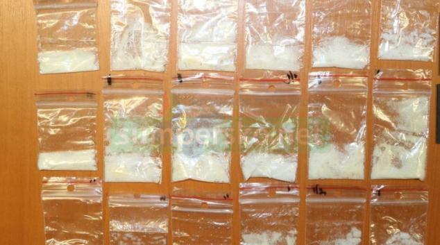 FOTO. Nelegální výrobce ukrýval drogy i v teráriu s pavoukem