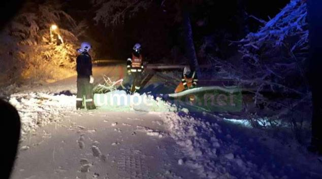 Vydatné sněžení komplikuje situaci nejen na silnicích
