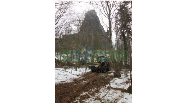 Skalní masiv se zříceninou hradu Trosky znovu vynikne