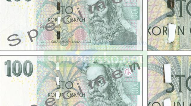 Výskyt padělaných a poškozených českých bankovek