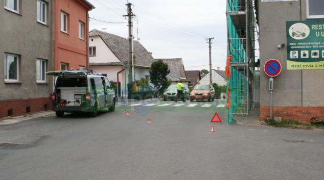 Střet dvou cyklistů v Dolních Studénkách