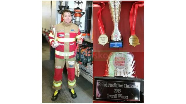 Hasič z Olomouckého kraje vyhrál s přehledem britské mistrovství