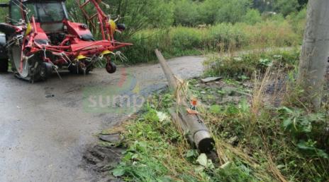 Řidič traktoru v Chrasticích přejel do protisměru