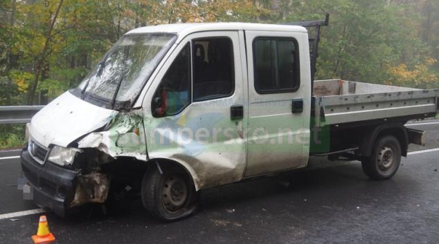 Opilý řidič havaroval poblíž Libavé
