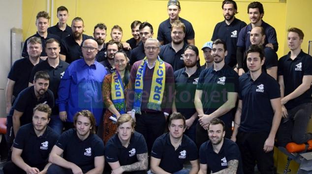 Starosta a první místostarostka navštívili šumperský hokejový klub