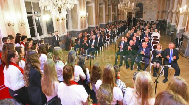 Arcibiskupský palác byl místem předání ocenění dobrovolníkům