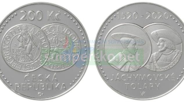 Stříbrná mince k 500. výročí jáchymovských tolarů