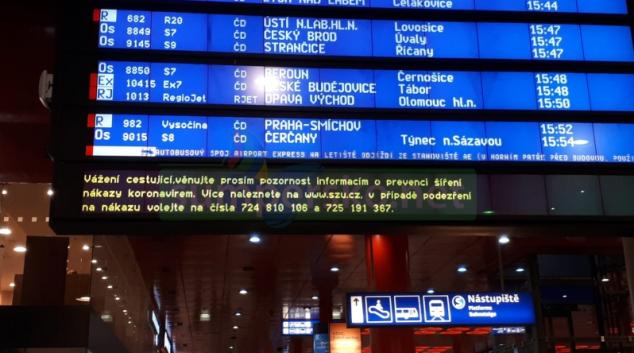 Preventivní opatření ve vlacích, na nádražích