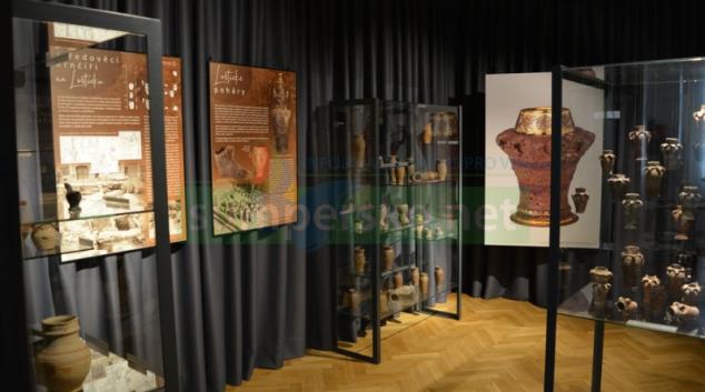 Expozice loštických pohárů
