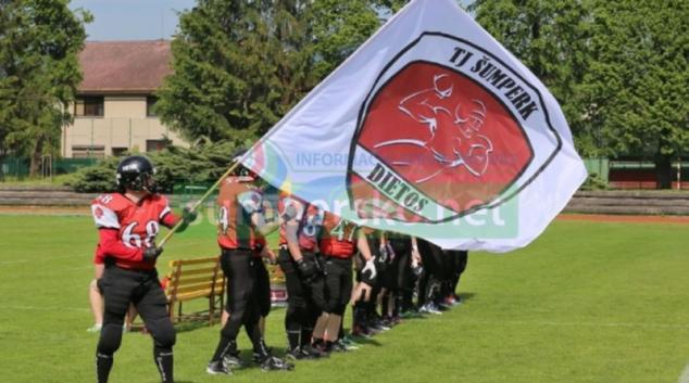 Náborové tréninky amerického fotbalu v Šumperku