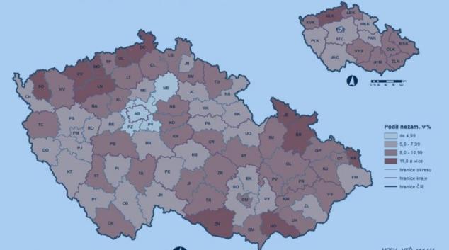 Nezaměstnanost v České republice stoupá