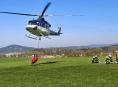 V Šumperku na letišti budou cvičit hašení požárů vrtulníkem
