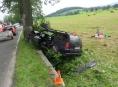 Řidič zřejmě vlivem mikrospánku havaroval
