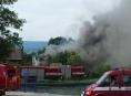 V Bělé pod Pradědem hořel rodinný dům