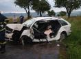 Řidička zůstala zaklíněna ve vozidle u Brníčka