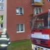 Šumperk - požár bytu v panelovém domě           zdroj foto: HZS Olk.