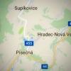 Uzavřen bude úsek od křižovatky (na Supíkovice) po konec obce Písečná    zdroj: Google