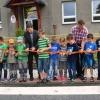 Hoštejn - slavnostní otevření nového přechodu pro chodce před základní školou      zdroj foto: V. Sobol