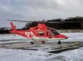Pro zraněnou lyžařku letěl záchranářský vrtulník