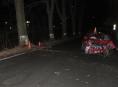 Opilý řidič v Jeseníku čelně narazil do stromu