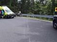 V serpentinách mezi Kouty nad Desnou a Červenohorským sedlem bourali motorkáři
