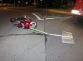 Řidičku motocyklu při jízdou Šumperkem přemohla únava